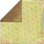 Bo Bunny Press - Organic Collection - 12x12 Double Sided Paper - Organic Jasmine - Travel - Family