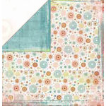 Bo Bunny Press - Organic Collection - 12x12 Double Sided Paper - Organic Snowdrop - Travel - Family