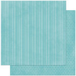 BoBunny - Double Dot Designs Collection - 12 x 12 Double Sided Paper - Stripe - Ocean