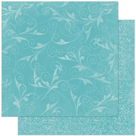 BoBunny - Double Dot Designs Collection - 12 x 12 Double Sided Paper - Flourish - Ocean
