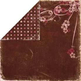 Bo Bunny Press - Bella Journee - Double Sided Paper - Paris Collection - Paris Blossoms