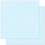 Bo Bunny Press - Double Dot Designs Collection - 12 x 12 Double Sided Paper - Stripe - Powder Blue