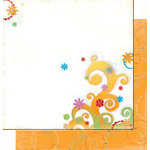 Bo Bunny Press - Popsicle Collection - 12 x 12 Double Sided Paper - Banana Split