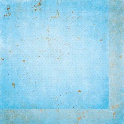 Bo Bunny - Double Dot Designs Collection - 12 x 12 Double Sided Paper - Vintage - Powder Blue