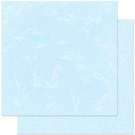 Bo Bunny Press - Double Dot Designs Collection - 12 x 12 Double Sided Paper - Flourish - Powder Blue