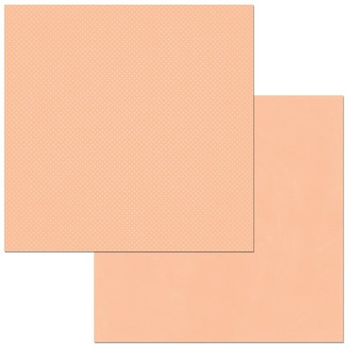 BoBunny - Double Dot Collection - 12 x 12 Double Sided Cardstock Paper - Peaches and Cream