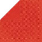Bo Bunny Press - Double Dot Paper - 12 x 12 Double Sided Paper - Paprika Dot