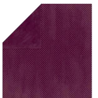Bo Bunny Press - Double Dot Paper - 12 x 12 Double Sided Paper - Plum Dot