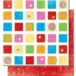 Bo Bunny Press - Popsicle Collection - 12 x 12 Double Sided Paper - Fruit Punch, CLEARANCE