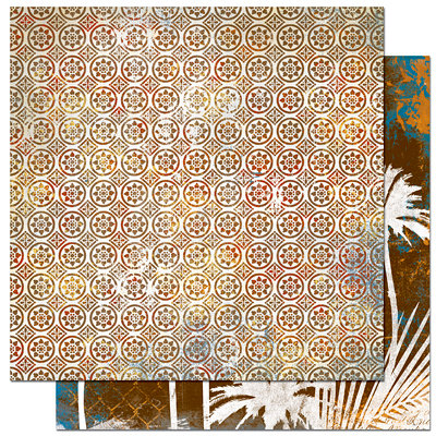 Bo Bunny Press - Paradise Collection - 12 x 12 Double Sided Paper - Paradise Batik