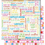 Bo Bunny Press - Popsicle Collection - 12 x 12 Double Sided Paper - Popsicle Kisses
