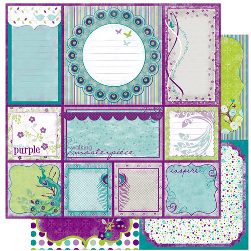 Bo Bunny Press - Peacock Lane Collection - 12 x 12 Double Sided Paper - Peacock Lane Cut Outs
