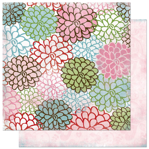 Bo Bunny Press - Persuasion Collection - 12 x 12 Double Sided Paper - Persuasion Blooms