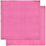 Bo Bunny - Double Dot Designs Collection - 12 x 12 Double Sided Paper - Journal - Pink Punch