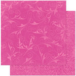 Bo Bunny Press - Double Dot Designs Collection - 12 x 12 Double Sided Paper - Flourish - Pink Punch