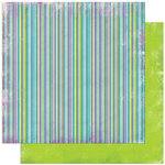 Bo Bunny Press - Peacock Lane Collection - 12 x 12 Double Sided Paper - Peacock Lane Stripe