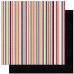 Bo Bunny Press - Petal Pushers Collection - 12 x 12 Double Sided Paper - Petal Pushers Stripe