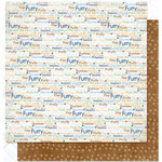 Bo Bunny Press - Pet Shop Collection - 12 x 12 Double Sided Paper - Pet Shop Words, CLEARANCE