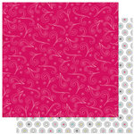 Bo Bunny Press - Petal Pushers Collection - 12 x 12 Double Sided Paper - Petal Pushers Whoosh!