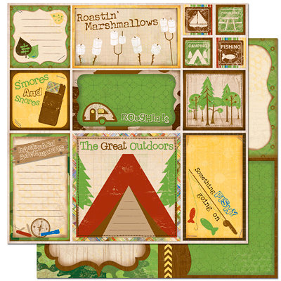 Bo Bunny Press - Roughin' It Collection - 12 x 12 Double Sided Paper - Roughin' It Cut Outs