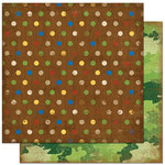 Bo Bunny Press - Roughin' It Collection - 12 x 12 Double Sided Paper - Roughin' It Dots