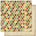 Bo Bunny Press - Roughin' It Collection - 12 x 12 Double Sided Paper - Roughin' It Leaves
