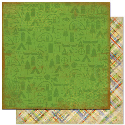 Bo Bunny Press - Roughin' It Collection - 12 x 12 Double Sided Paper - Roughin' It Nature, CLEARANCE