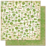 Bo Bunny Press - Roughin' It Collection - 12 x 12 Double Sided Paper - Roughin' It In The Woods
