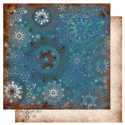 Bo Bunny Press - Snowfall Collection - 12 x 12 Double Sided Paper - Snowfall