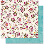 Bo Bunny Press - Sophie Collection - 12 x 12 Double Sided Paper - Sophie Bouquet, CLEARANCE