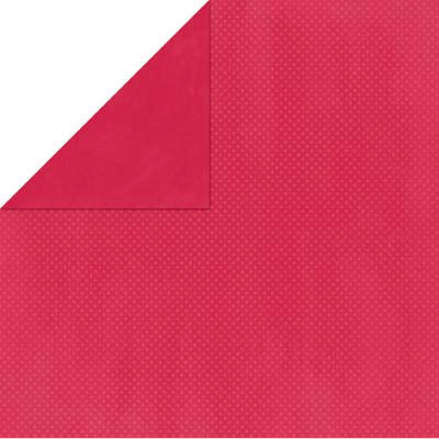Bo Bunny Press - Double Dot Paper - 12 x 12 Double Sided Paper - Strawberry Dot