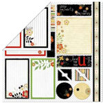 Bo Bunny Press - Splendor Collection - 12 x 12 Double Sided Paper - Splendor Cut Outs, CLEARANCE