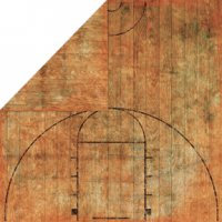 Bo Bunny Press - Slam Dunk Basketball Collection - 12x12 Double Sided Paper - Dribble