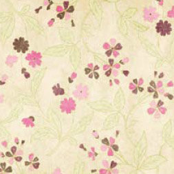 Bo Bunny Press - Smitten Collection - Valentine's Day - 12x12 Iridescent Paper - Smitten Floral, CLEARANCE