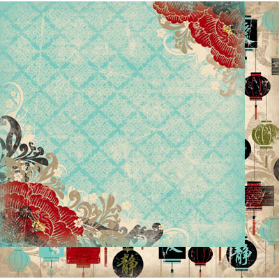 BoBunny - Serenity Collection - 12 x 12 Double Sided Paper - Garden