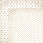 Bo Bunny - Double Dot Designs Collection - 12 x 12 Double Sided Paper - Chevron - Sugar