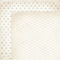 BoBunny - Double Dot Designs Collection - 12 x 12 Double Sided Paper - Chevron - Sugar