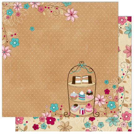 Bo Bunny - Sweet Tooth Collection - 12 x 12 Double Sided Paper - Delish
