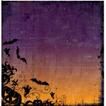 Bo Bunny Press - Spooktastic Collection - 12 x 12 Paper - Spooktastic Haunted, CLEARANCE
