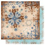 Bo Bunny Press - Snowfall Collection - 12 x 12 Double Sided Paper - Hot Chocolate