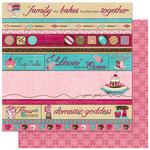 Bo Bunny Press - Sweet Tooth Collection - 12 x 12 Double Sided Paper - Indulge