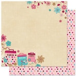 Bo Bunny Press - Sweet Tooth Collection - 12 x 12 Double Sided Paper - Just a Pinch