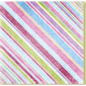 Bo Bunny Press - Patterned Paper - Spring Jewels Stripe