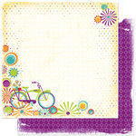 Bo Bunny Press - Sun Kissed Collection - 12 x 12 Double Sided Paper - Sun Kissed Afternoon