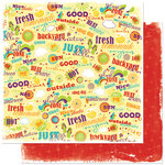 Bo Bunny Press - Sun Kissed Collection - 12 x 12 Double Sided Paper - Sun Kissed Squeeze Me