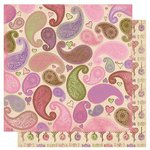 Bo Bunny Press - Smoochable Collection - 12 x 12 Double Sided Paper - Love Potion