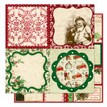 Bo Bunny Press - St. Nick Collection - Christmas - 12 x 12 Double Sided Paper - St. Nick Cut Outs