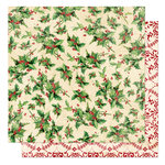 Bo Bunny Press - St. Nick Collection - Christmas - 12 x 12 Double Sided Paper - St. Nick Noel