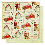 Bo Bunny Press - St. Nick Collection - Christmas - 12 x 12 Double Sided Paper - St. Nick Toyland