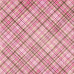 Bo Bunny Press - Smitten Collection - Valentine's Day - 12x12 Iridescent Paper - Smitten Plaid